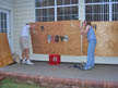 plywood on the house before the hurricane