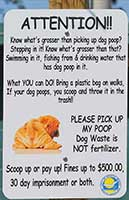 Pick up your dog's poop - or pay a fine!