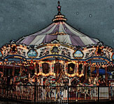 Carousel in the rain Broadway at the Beach