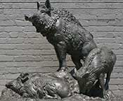 Wild Boars, Anna Hyatt Huntington