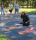 Chalk under the Oaks - Street Painting