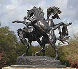 Fillies Playing by Anna Hyatt Huntington