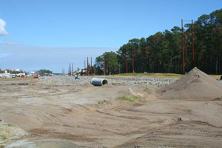 Construction at Farrow Parkway and Bypass 17.