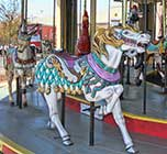 Carousel at Pavilion Amusement Park.