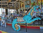 Carousel at Pavilion Nostalgia Park at Broadway on the Beach.