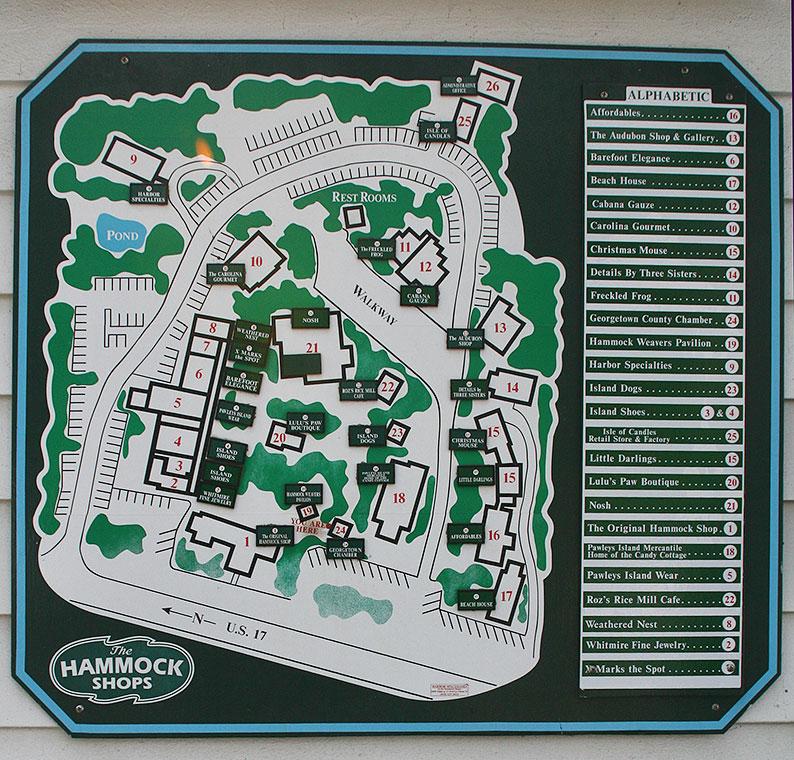 hammock shops village map pawleys island hammock shops from a local  enjoy unique local      rh   funbeaches