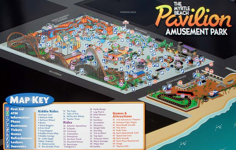 Funbeaches Pavilion Map Key
