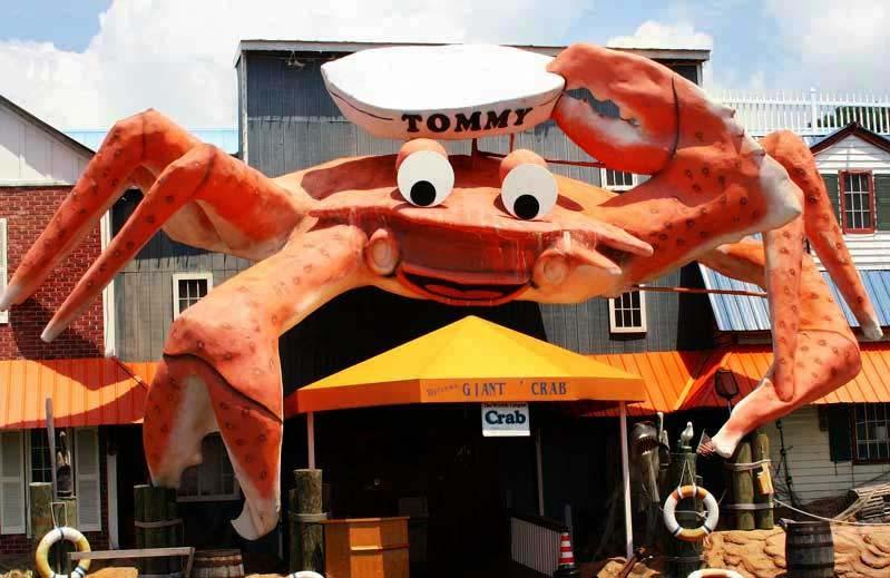 Giant Crab Restaurant Row Maggie Catnip Myrtle Beach State Park